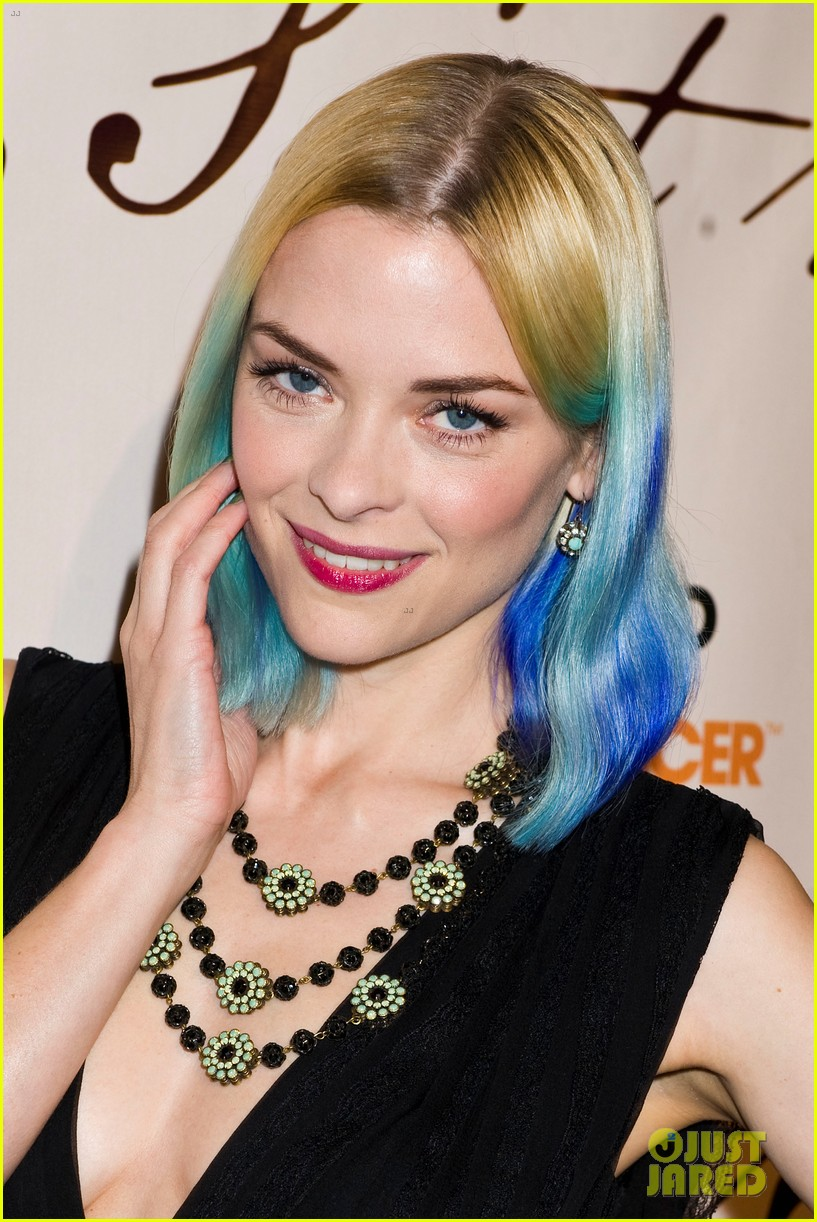 Blue Ombre with Blonde Hair