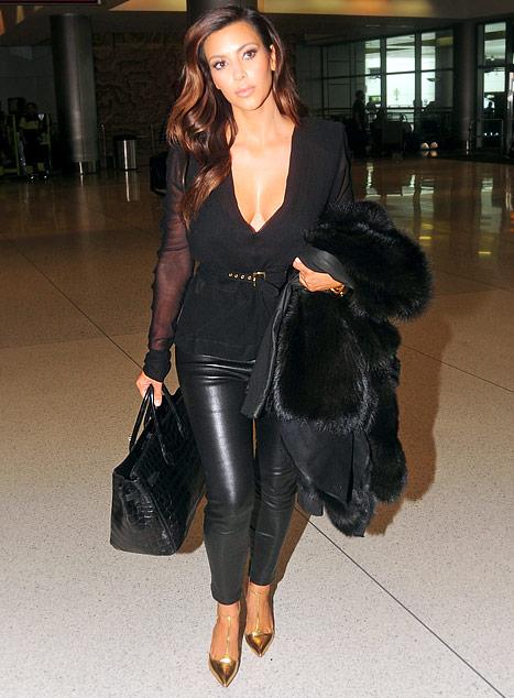 Kin Kardashian wearing pants