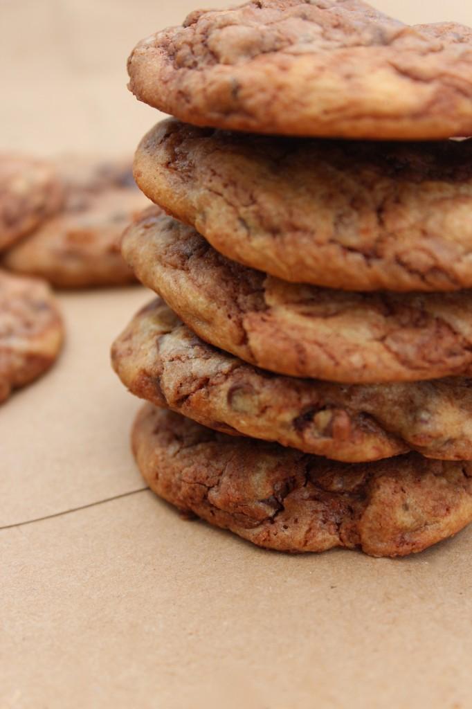 nutella, chocolate chips, cookies, dessert