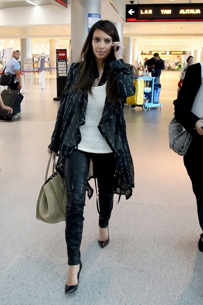 533ca7018d05a 6 Ways Kim Kardashian Wears Leather Pants For Day – Plus, Shop 20 Styles!