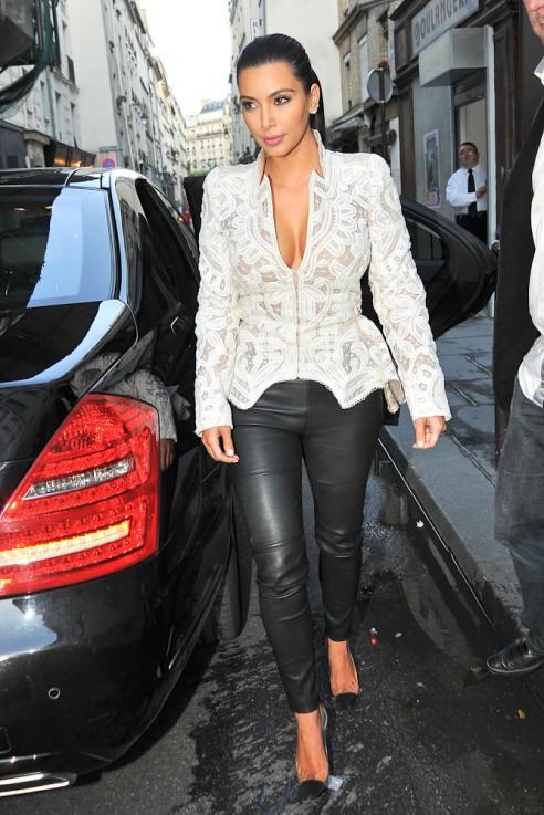 Kardashian pants kim leather