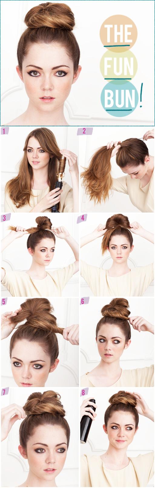how to do twist hairstyles : High Bun With Bangs Tumblr A top knot slash high bun