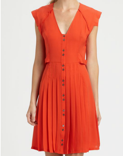 10 Crosby Derek Lam Pleated Silk Dress