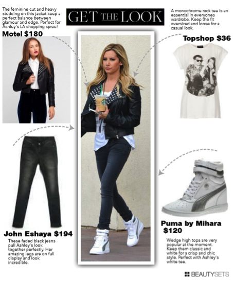Ashley Tisdale Motel isabel marant puma wedge sneaker