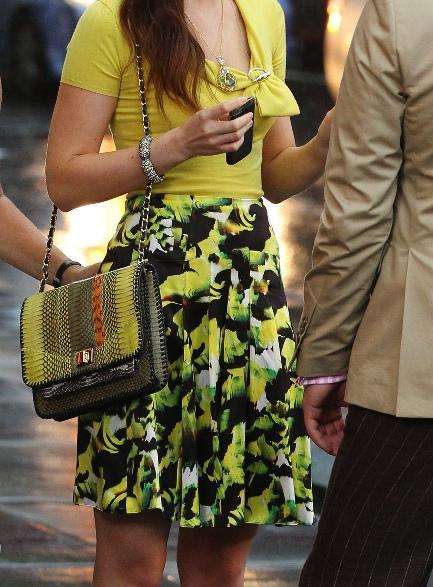 Blair Waldorf gucci yellow top ICB skirt angel jackson python bag season 6 bag