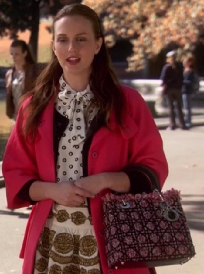 Blair waldorf Lady Dior tweed bag season 6 gossip girl
