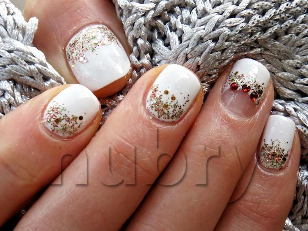 winter white wonderland manicure