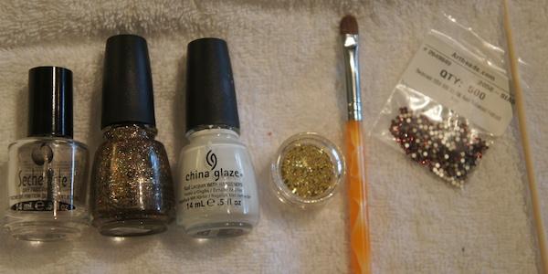 White Glitter Ombre Nails Ombre Glitter Nails 10