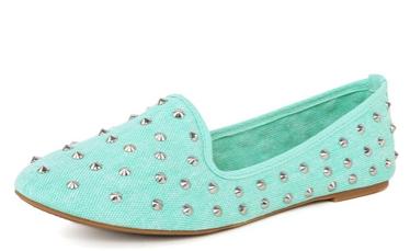 Kiwi01 Spiky Penny Loafers smoking slipper MINT