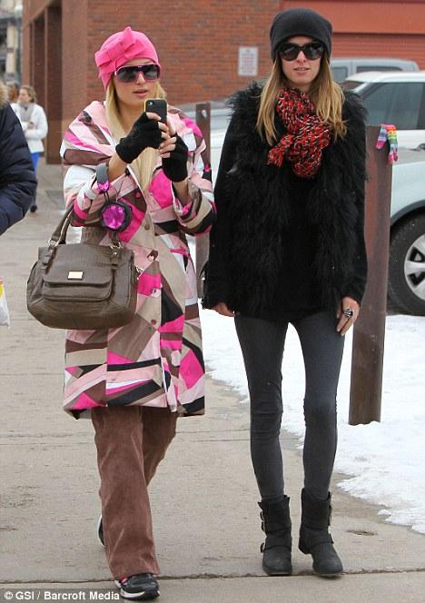 Paris hilton pucci jacket nicky hilton 2011 aspen