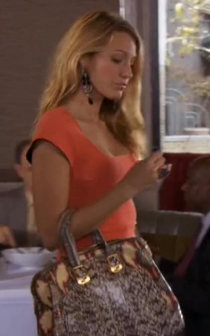 Serena Van der woodsen python fendi chamelon bag season 6