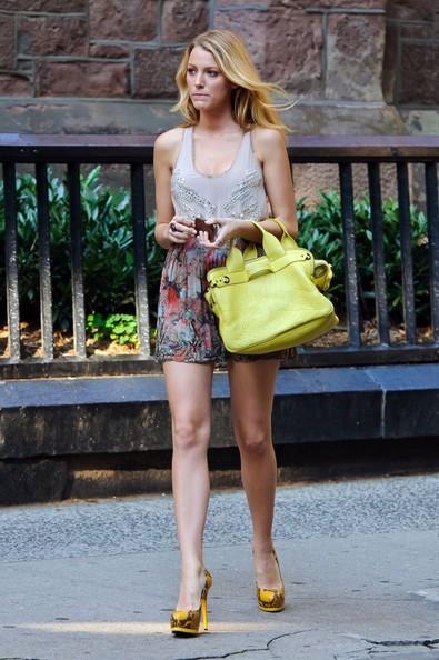 Serena van der woodsen yellow phillip lim satchel handbag gossip girl season 6