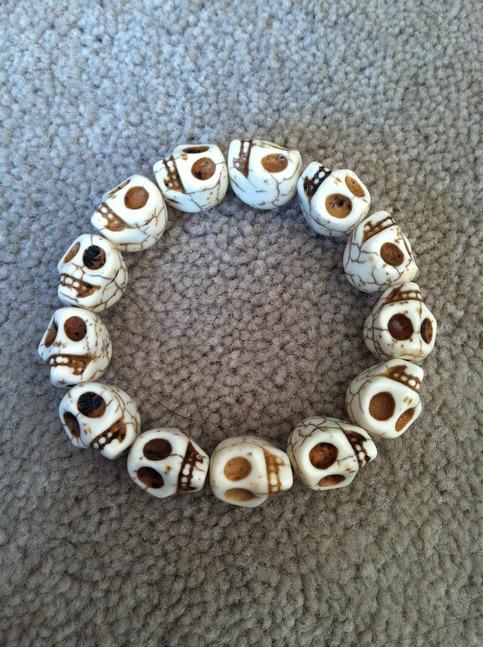 Skull bracelet all the right pieces secret santa