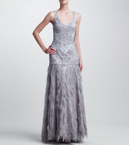 Sue Wong Beaded Organza-Skirt Gown Gretchen Hackmann Miss California 2013 Nubry