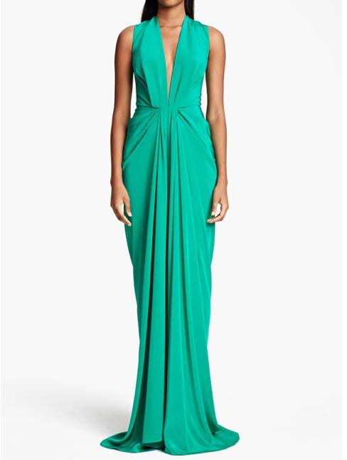Thakoon Kelly Green Silk Gown Spring 2013 Gretchen hackmann Miss California USA 2013 Nubry