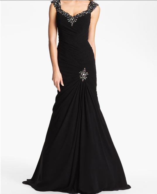 Veni Infantino Embellished Trumpet Gown