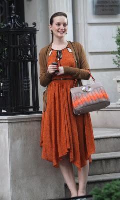 blair waldorf bulgari zig zag isabella rossellini orange bag jason wu dress season 6 bag