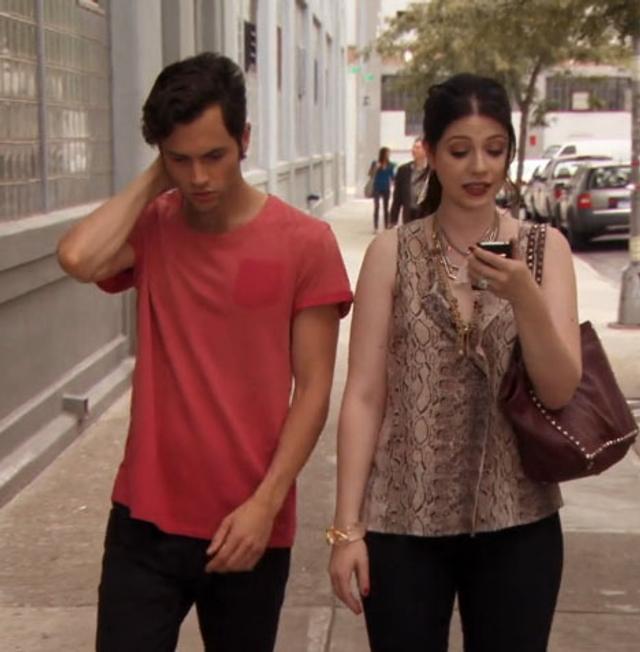 georgina sparks michelle trachtenberg gossip girl valentino studded brown maison bag