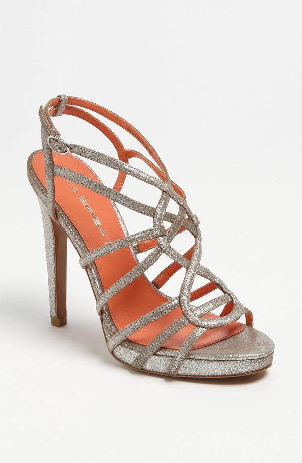 via spiga silver strappy promise sandal heel