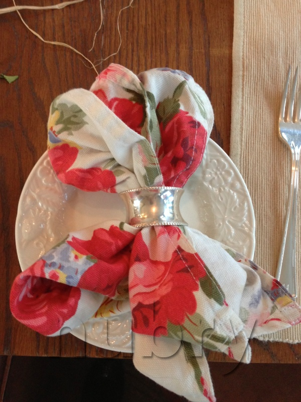 Breakfast Table Setting with pops of color