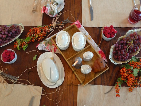 Breakfast Table Setting   Natural Elements, Pop Of Color, And Sisel