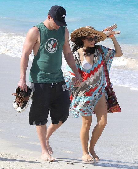 Channing- Tatum-Pregnant-Jenna-Dewan-St-Barts beach cover up