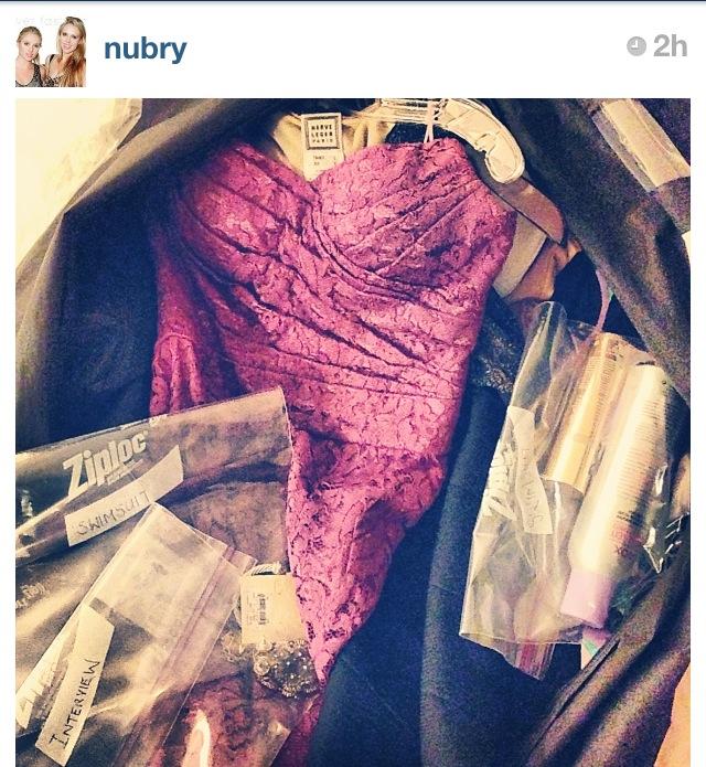 Dolce Gabbana purple lace dress and wardrobe for miss california