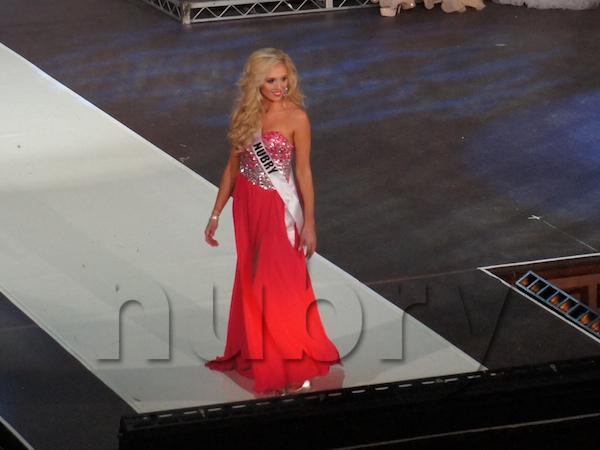 Gretchen Hackmann miss california terani gown