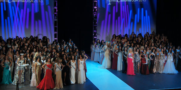 miss california girls in gown