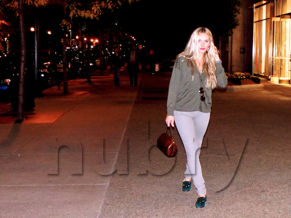 Gretchen Hackmann, Nubry editor, shows that you can easily wear emerald green by slipping into a pair of smoking flats.