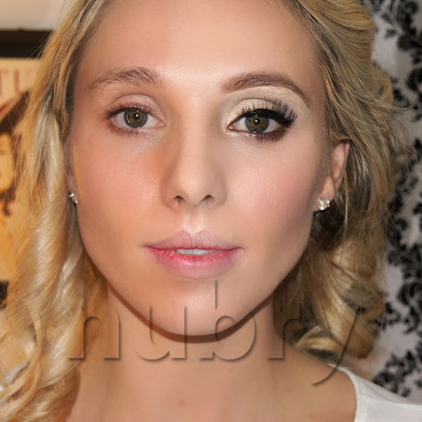 Before and after - How To Do beauty Pageant Makeup via Nubry
