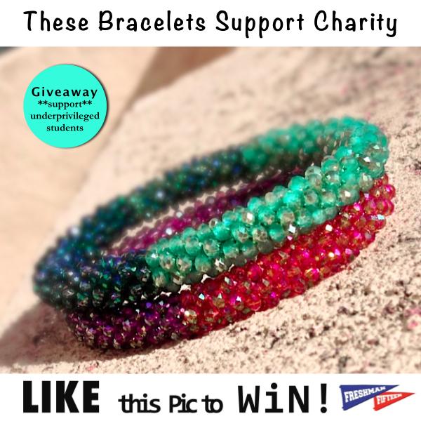Jewelry For Charity Nubry Giveaway The Freshman Fifteen Bracelets