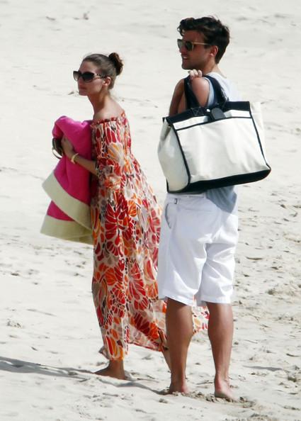 Olivia palermo and Johannes Huebl coverup beach st barts