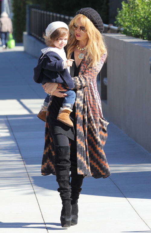 Rachel Zoe enjoys a beautiful afternoon walk with her family