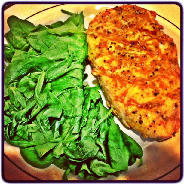 grilled chicken spinach miss california usa 2013 diet