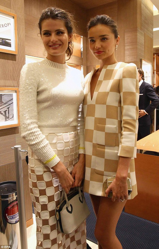 Isabeli and Miranda at the Louis Vuitton grand opening in Cancun