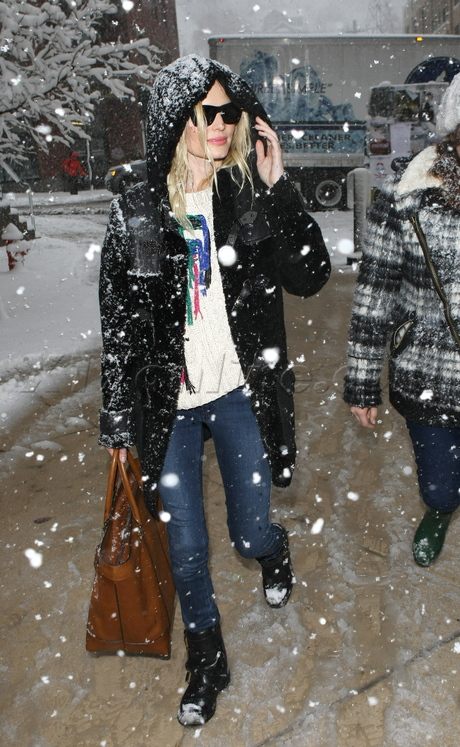 Kate Bosworth in a snowstorm at the Sundance Film Festival