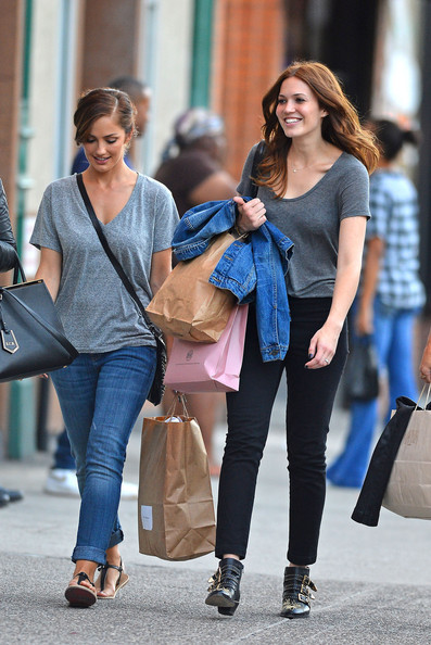 mandy-moore-and-chloe-flat-susanna studded-boots with minka kelly