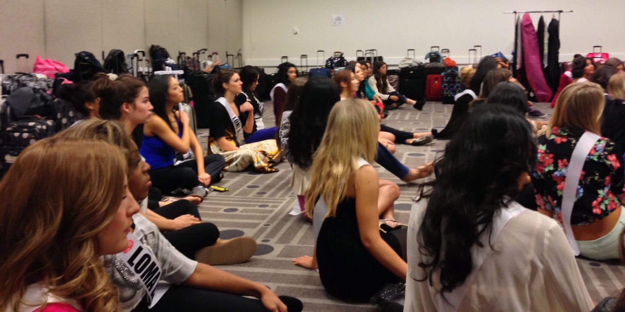 pageant Miss ca usa training friday