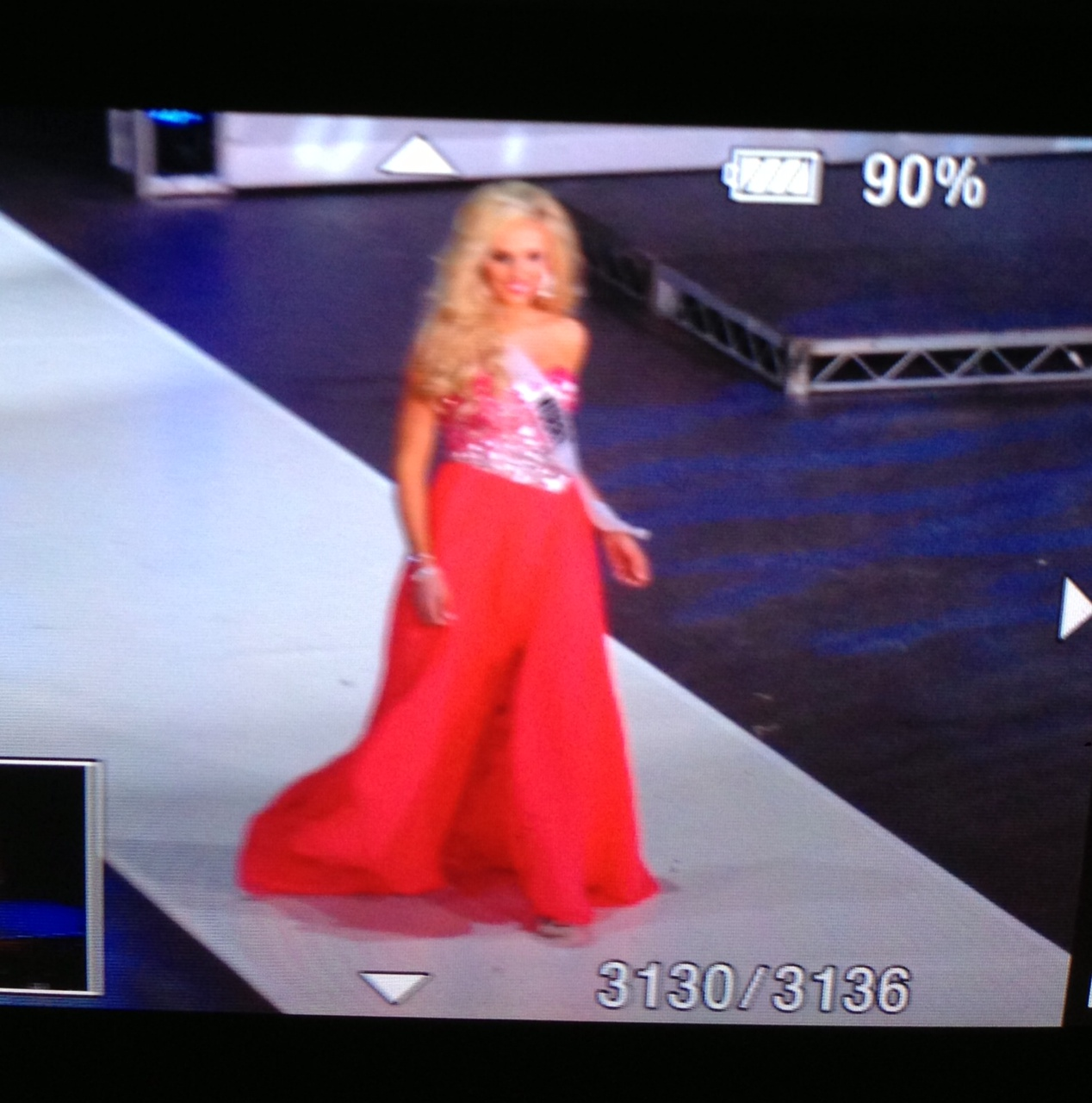 miss california in gown