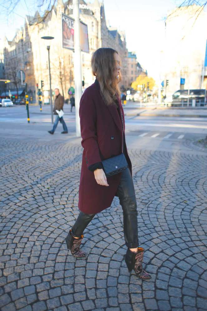 street style isabel marant berry heels