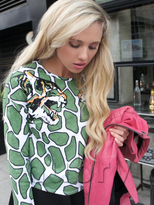 Animal face Trend - Topshop tiger print sweatshirt