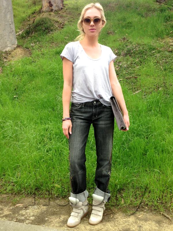 Isabel Marant Bekkett Wedge Sneakers Gretchen hackmann Nubry San Diego Fashion Blog 1