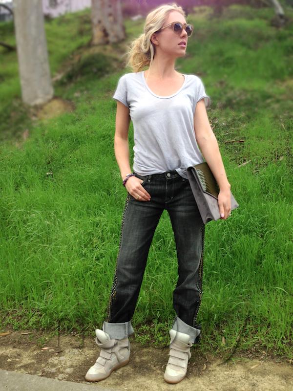 Isabel Marant Bekkett Wedge Sneakers Gretchen hackmann Nubry San Diego Fashion Blog 2