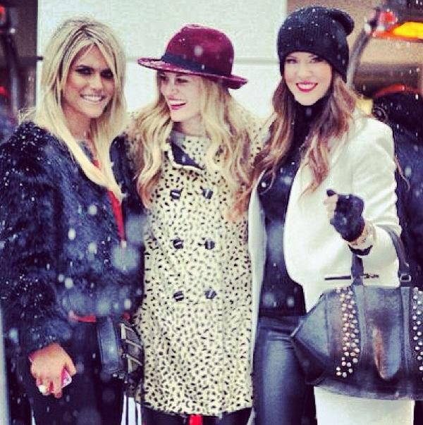 Lauren Shruggs Shannon Yoachum Courtney Kerr faux fur new york fashion week