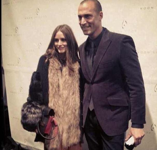 Olivia palermo nigel barker noon by noor fur vest agnona sweater new york fashion week