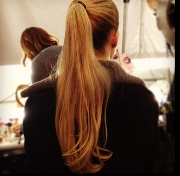Pony tails at michael kors 50s nyfw