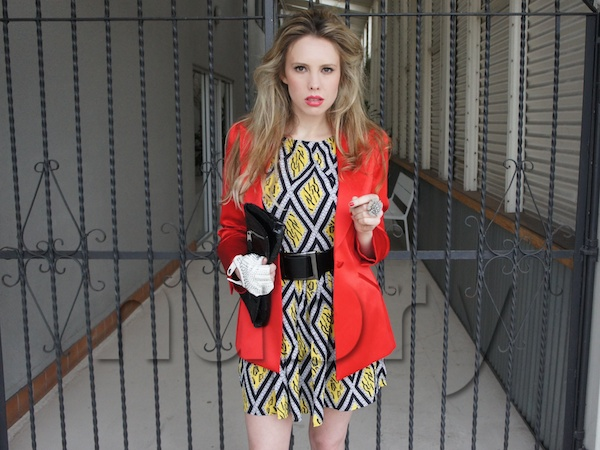 Layer A Brunch Dress With A Colorful Blazer