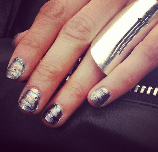 Rebecca Minkoff fall oil slick Essie nails 5 polishes