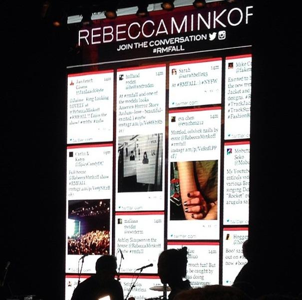 Rebecca Minkoff Social media RMfall runway board nyfw bumebox
